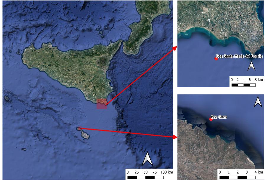 Localizzazione dei punti di installazione delle boe ondametriche